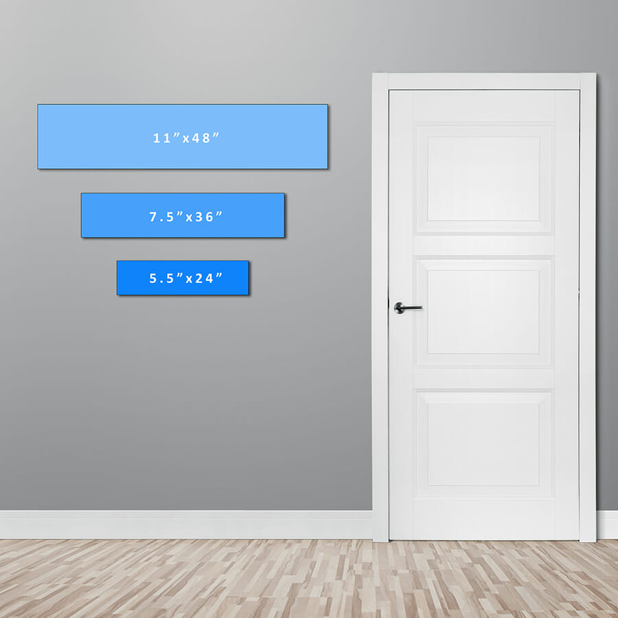 Sign sizing layout