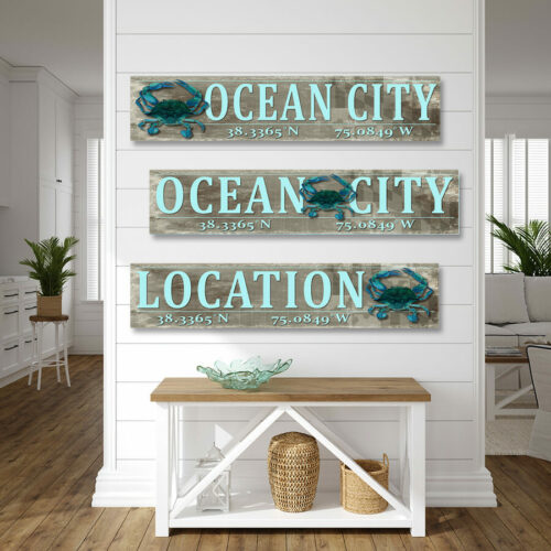 Blue Crab Wood Sign