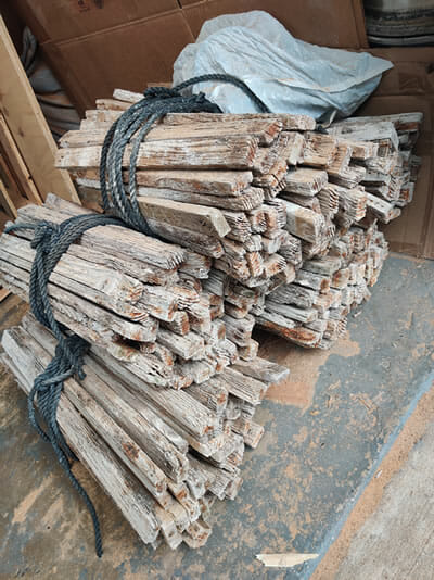 Reclaimed Lobster Trap Wood
